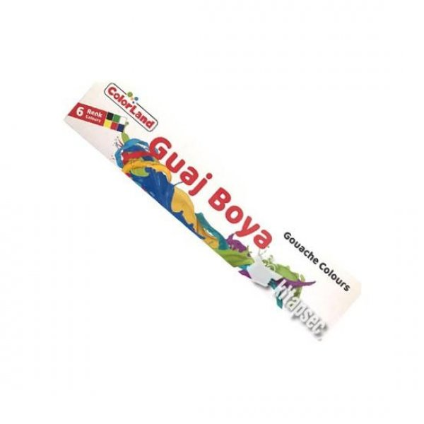 Colorland 6 Renk Guaj Boya 20ml