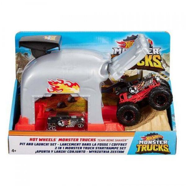 MATTEL HOTWHEELS MONSTER TRUCKS FIRLATICILI OYUN SETİ