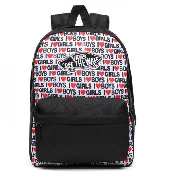 VANS REALM BACKPACK I HEART BOYS-GİRLS