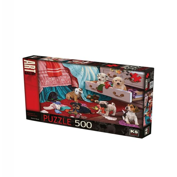 PUZZLE 500 PUPPİES İN THE BEDROOM