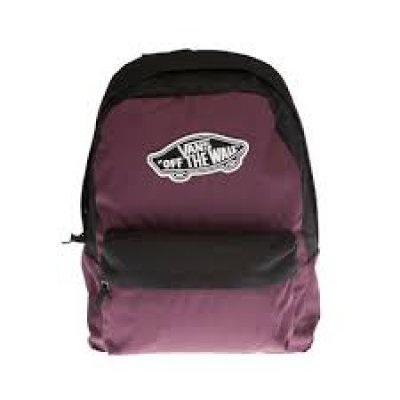 VANS REALM BACKPACK SİYAH BORDO SIRT ÇANTASI
